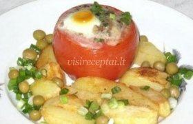 Kiaušinienė pomidoruose