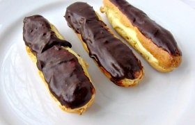 Prancūziški eklerai su sviesto kremu