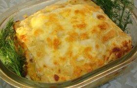 Lazanija su sūriu ir kiauliena