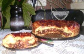 Obuolių pyragas su džemu