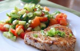 Pomidorų-agurkų salotos