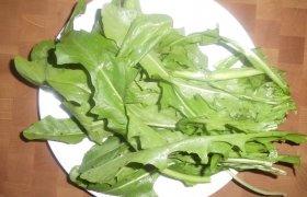Kiaulpienių lapų salotos