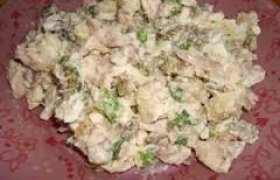 Grybų salotos su bulvėmis