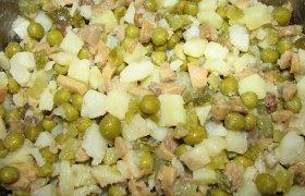 Sūdytų ar marinuotų grybų salotos