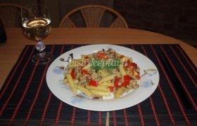 Makaronai su faršu ir daržovėmis