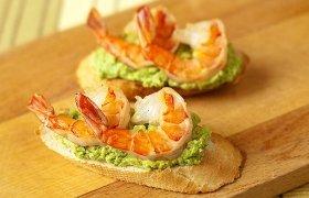 Gurmaniški sumuštinukai su krevetėmis