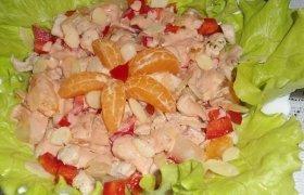 Vištienos salotos su mandarinais