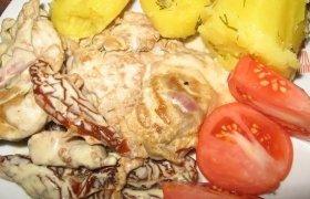 Vištiena su džiovintais pomidorais