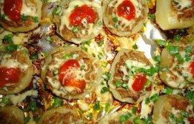Įdarytos bulvės su vištienos faršu