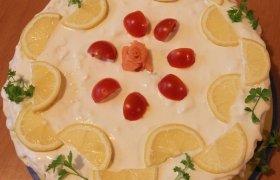 Šventinis lašišos tortas