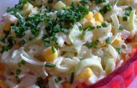 """Ryžių ir porų salotos su """"MangoMajo"""" majonezu"""