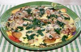 Tirolietiškas omletas su grybais