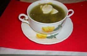 Špinatų ir rūgštynių sriuba su šviežia šonine