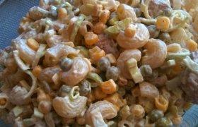 Makaronų mišraine su majonezu