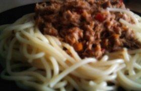 Spagetti makaronai su mėsos padažu