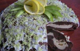 Citrininis varškės pyragas su kakava