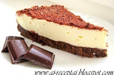 Nekeptas šokoladinis sūrio tortas (Cheesecake)