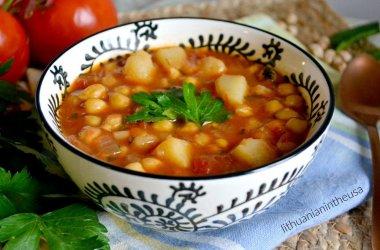 Vegetariška avinžirnių sriuba