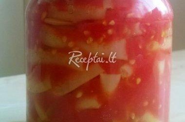 Šparaginės pupelės žiemai su pomidorų tyre