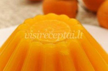 Varškės pudingas su apelsinais