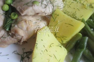 Vištiena iš garpuodžio su daržovėmis