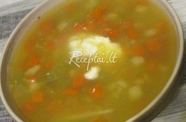 Sušildanti daržovių sriuba