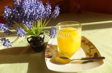 Natūralių apelsinų sulčių želė