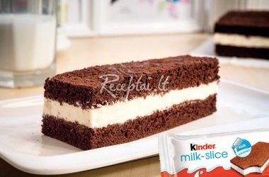 "Biskvitinis plokštainis ""Kinder Milk Slice"""
