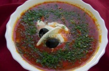 Pomidorų sriuba su mėsa