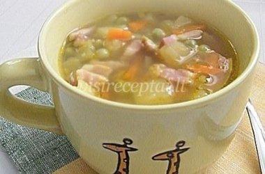 Daržovių sriuba su šonine