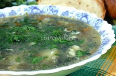 Dilgėlių sriuba