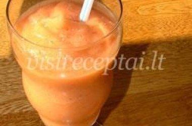 Arbūzų ir mango kokteilis