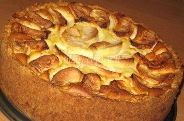 Varškinis pyragas su obuoliais