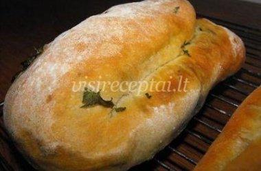 Česnakinė duona su petražolėmis
