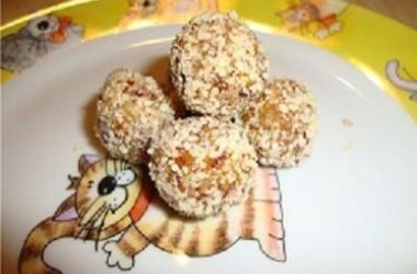 Vaisių ir riešutų saldainiukai
