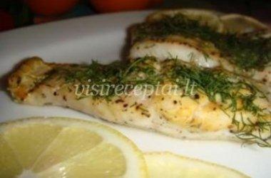 Žuvis su garstyčiomis