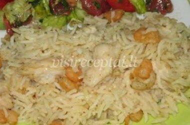 Žuvies troškinys su ryžiais