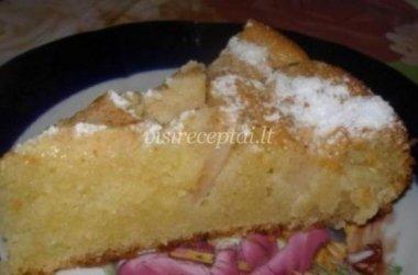Purus ir greitai paruošiamas obuolių pyragas