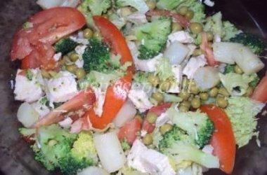 Salotos su šparagais