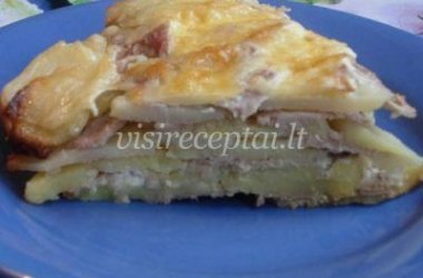 Prancūziškas mėsos pyragas