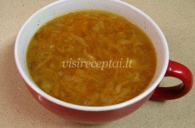 Paprasta kopūstų sriuba