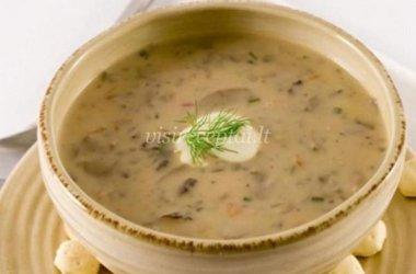 Džiovintų grybų sriuba