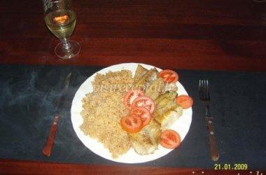 Saidos filė su ryžiais