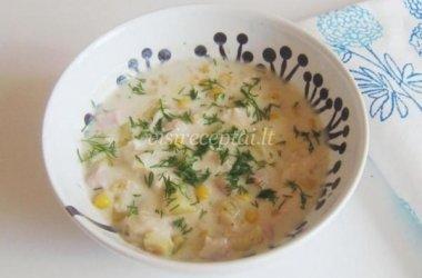 Pieniška daržovių sriuba