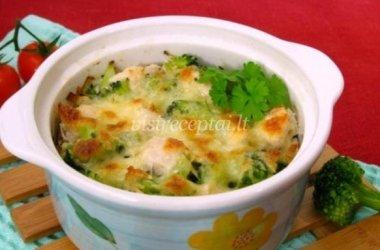 Vištienos ir brokolių užkepėlė