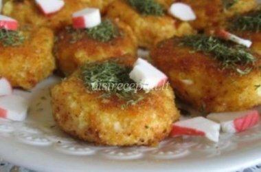 Bulviniai krabų blyneliai
