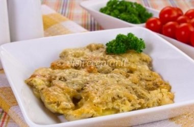 Apkeptos bulvės su sūriu