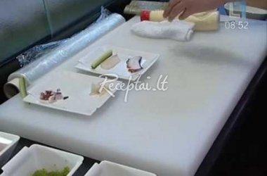 6 Suši receptai