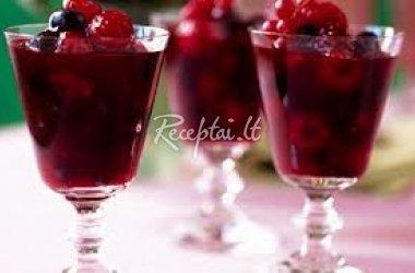 Vyšnių ir juodųjų serbentų kompotas