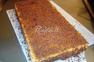 Vaflių tortas su šokoladu